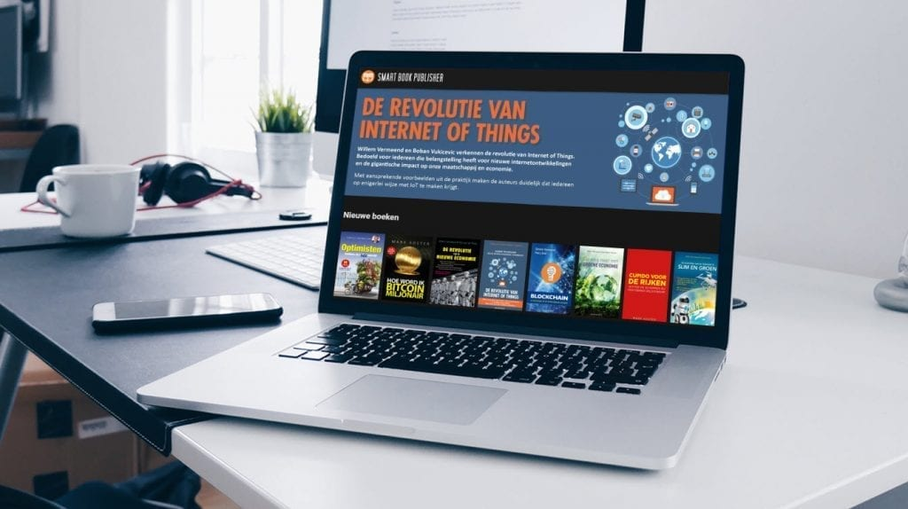 Smartbookpublisher op laptop