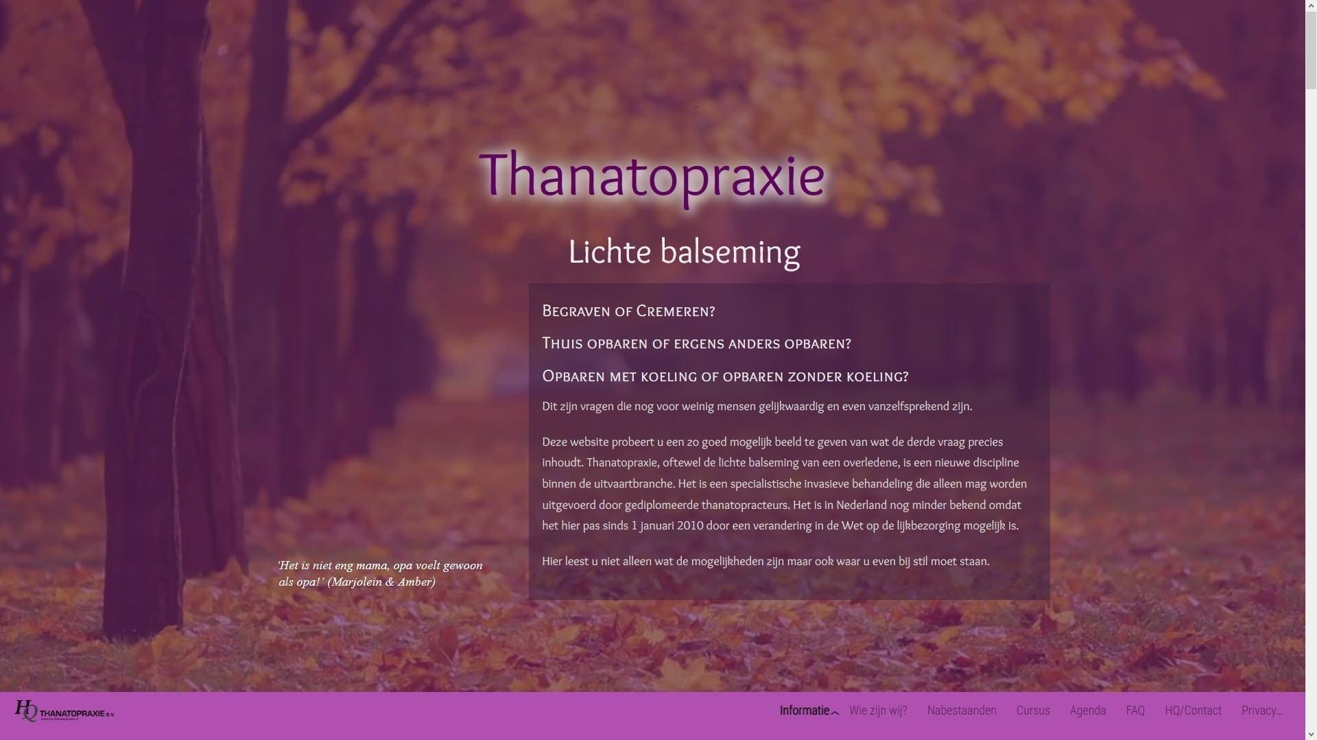 Website HQ-Thanatopraxie