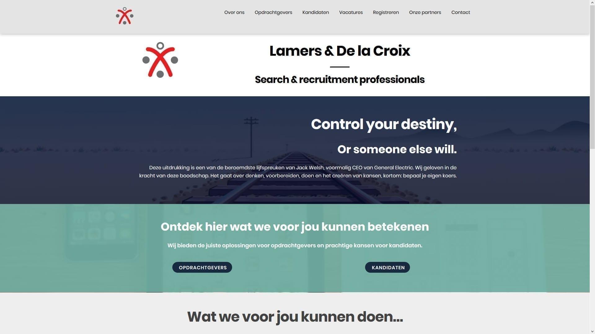 Website Lamers & de la Croix
