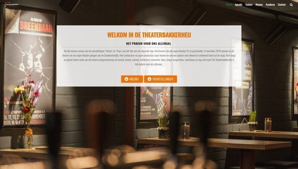 Website Theaterbakkerheij.nl