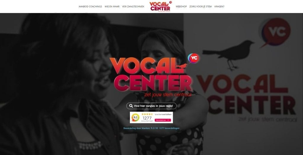 Website Vocal Center