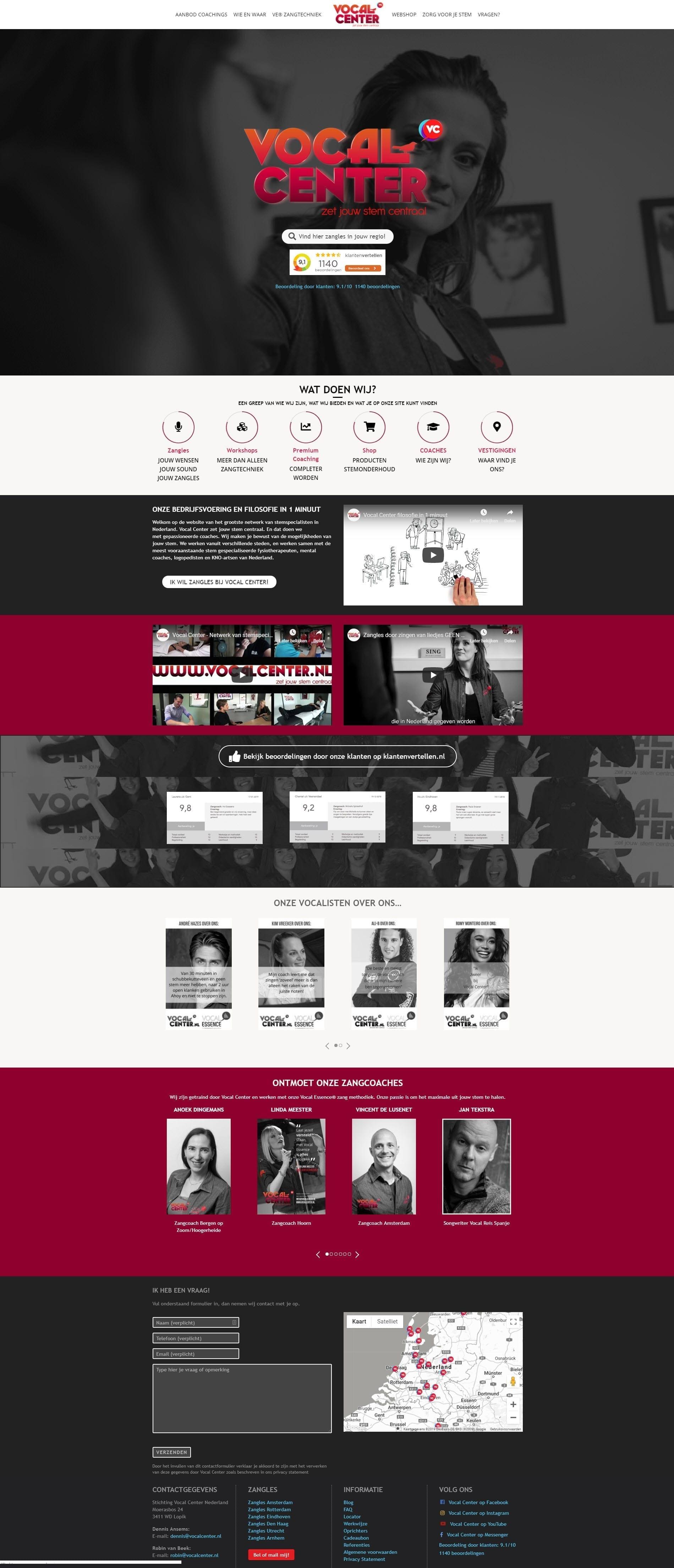 Website Vocalcenter.nl