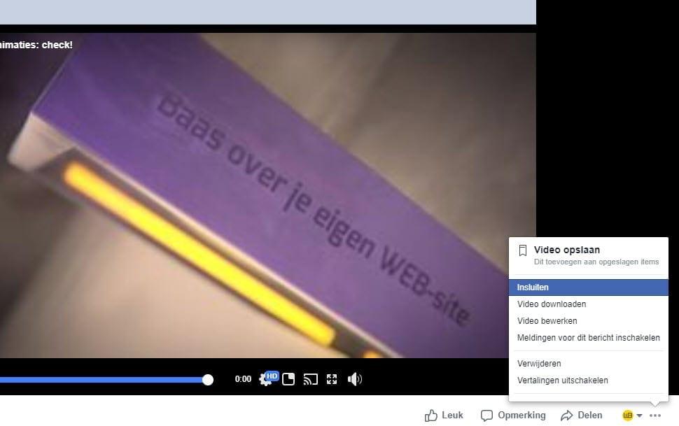 Facebook Video Insluiten