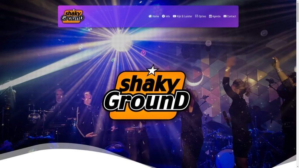 Screenshot Shakyground.nl