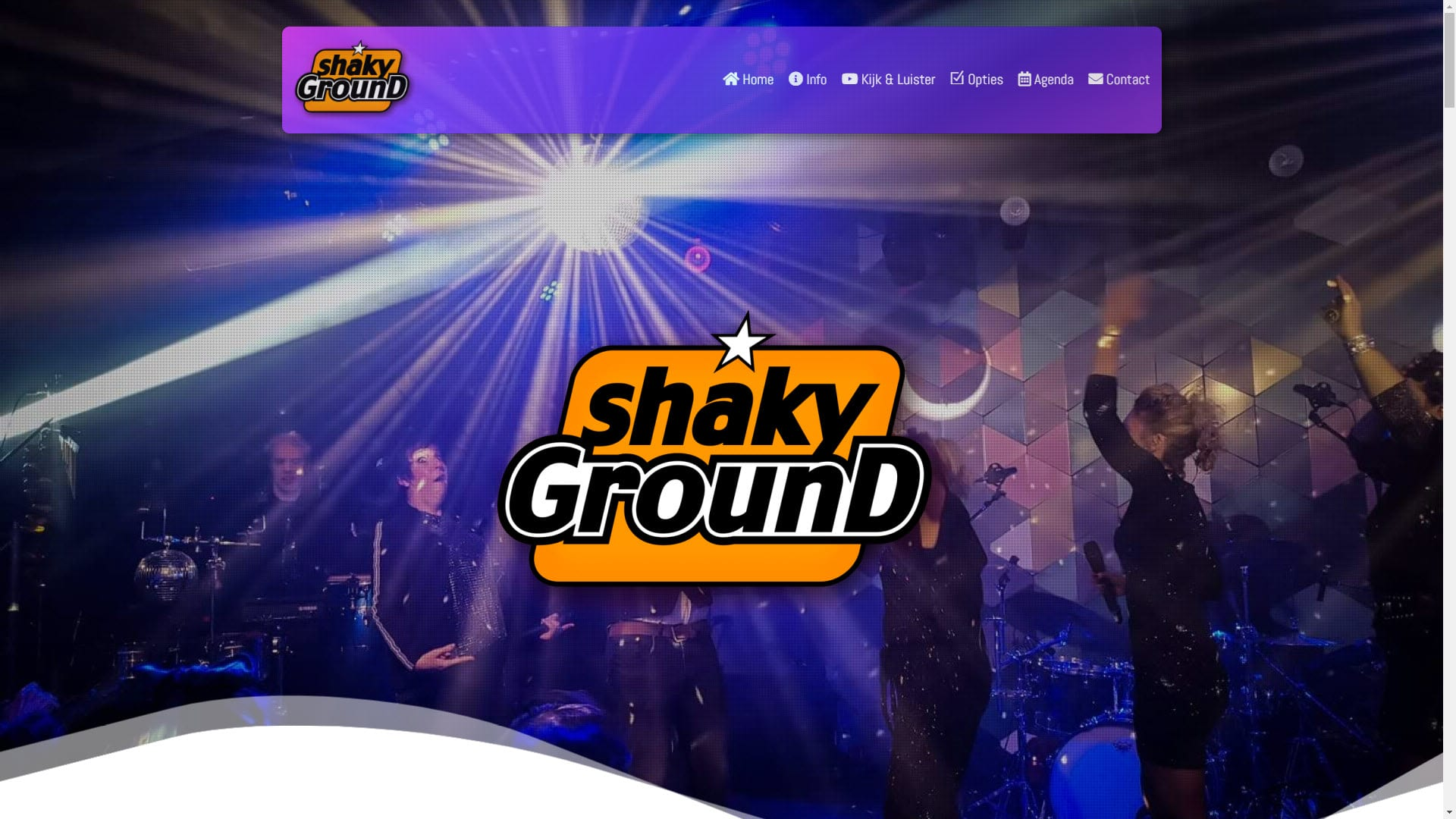 Screenshot Shakyground.nl