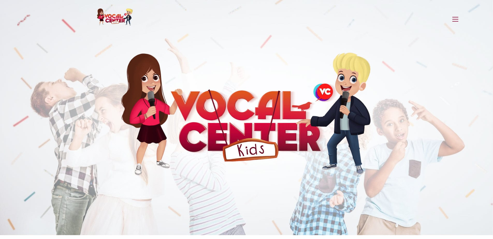 Screenshot vocalcenterkids.nl